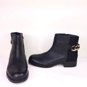 Sam Edelman Black Leather & Suede Ankle Boots